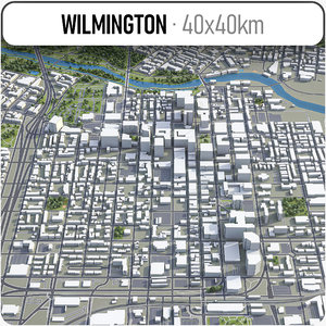 3D wilmington surrounding - model