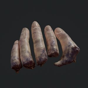 severed fingers 3D model