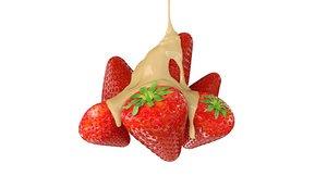 3D strawberry condensed milk model