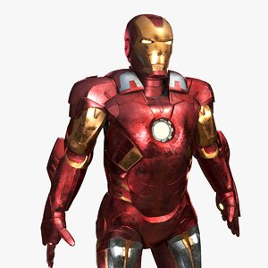 3D iron man mark vii model