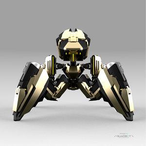 robot quadbot 212f 3D model
