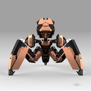 robot 212f 3D model