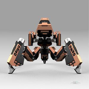 robot tribot 112f 3D model