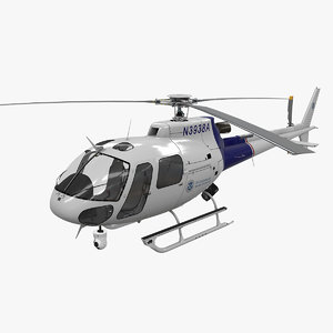 helicopter as-350 customs border 3D