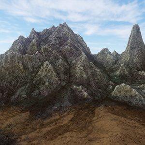 rocky mountains landscape 3D model