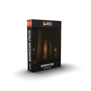 3D model assets dungeon scene pack