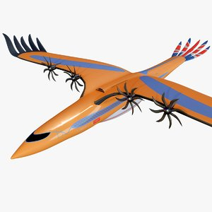 airbus bird pray concept 3D model