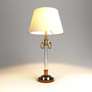 3D table lamp lights model