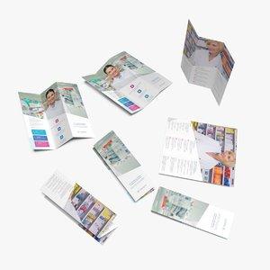 3D leaflet half