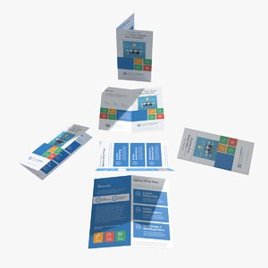 folded leaflet 3D model