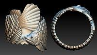 Fish Ring 3D Print model