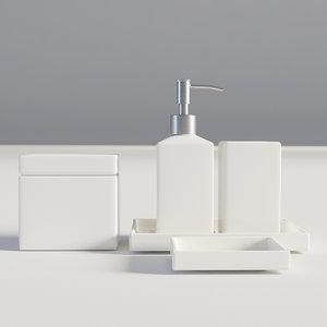 bathroom set bath 3D model