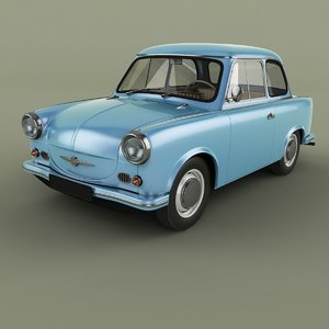 3D 1958 trabant p50 model