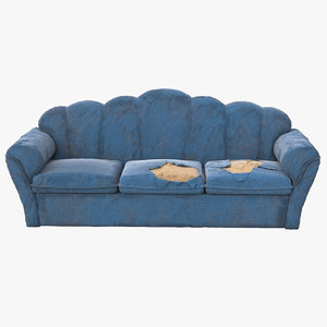 3D sofa worn model