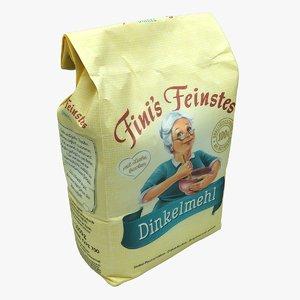 3D package flour model