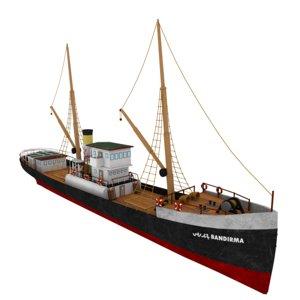 bandirma ferry ship 3D