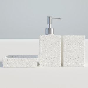 bathroom set bath 3D
