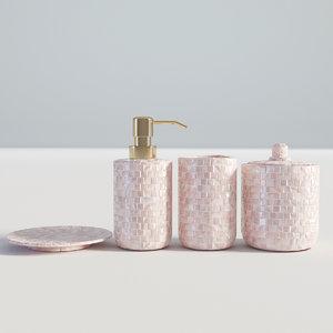3D model bathroom set bath