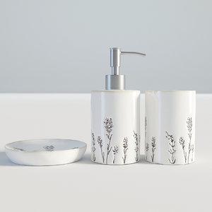 3D bathroom set bath model
