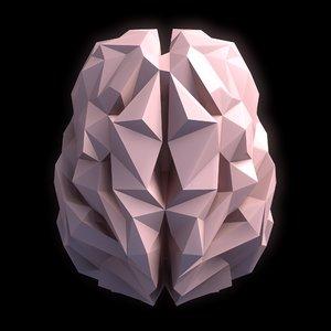 brain low-poly 3D model