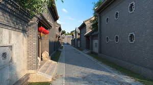 bejing old alley 3D model