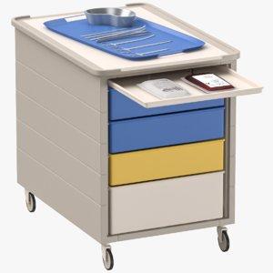 medical cart surgery tools 3D model