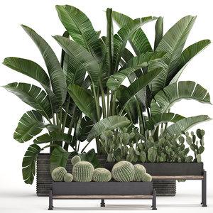 3D houseplants plants potted