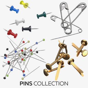 pins photorealistic 3D