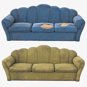 pbr sofa old 3D