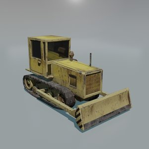 bulldozer construction 3D model