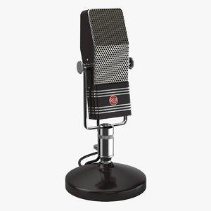 3d model retro nbc broadcasting rophone