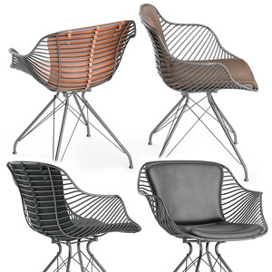 wire dining chair 3D model