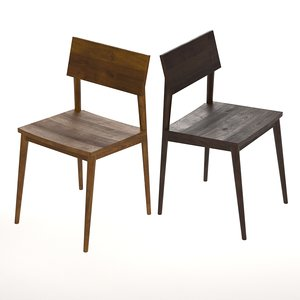 wood dining chair 3D model