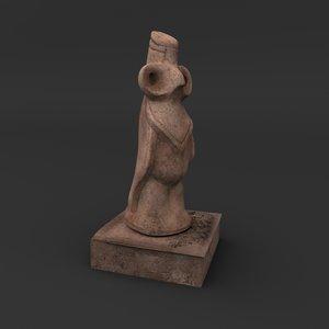 3D statue sculpture art
