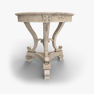 old coffee table 3D model
