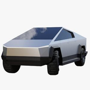 3D model tesla cybertruck generic truck