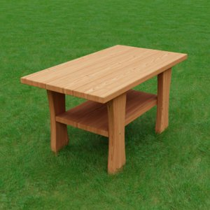 adirondack end table 3D model