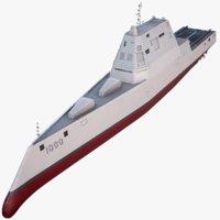 Zumwalt Class Destroyer USS DDG-1000