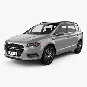 3D model generic van minivan