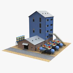 3D industrial building 19