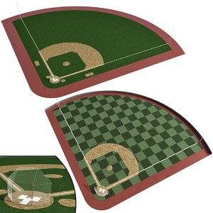 baseball field stadium 3D model