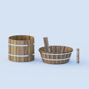 3D sauna bathroom set