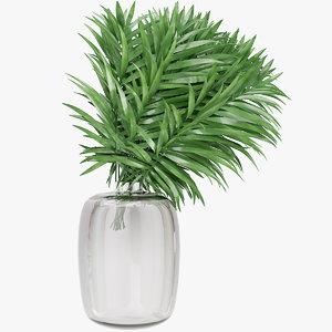 3D palm leaves
