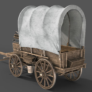 wagon vehicle transportation 3D model