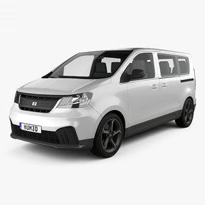 3D generic van passenger