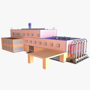 industrial building 09 3D model