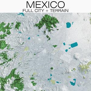 mexico terrain city 3D