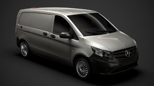 3D mercedes benz vito panel model