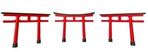 3D torii gate kasuga hachiman model