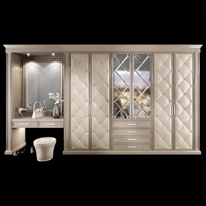 3D model wardrobe hallway composition set